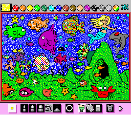 Mario Paint (Joystick) - Under the Sea.... - User Screenshot
